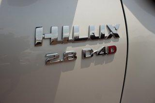 2017 Toyota Hilux GUN126R SR5 Double Cab Glacier White 6 Speed Automatic Dual Cab