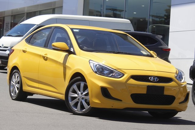 Pre-Owned Hyundai Accent RB6 MY18 Sport Woolloongabba, 2018 Hyundai Accent RB6 MY18 Sport Yellow 6 Speed Sports Automatic Sedan