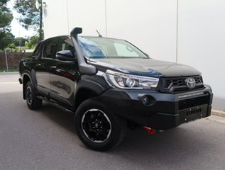 2019 Toyota Hilux GUN126R Rugged X Double Cab Black 6 Speed Sports Automatic Utility.