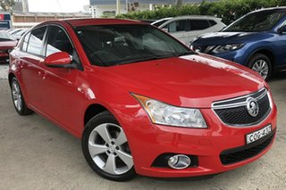 2013 Holden Cruze JH Series II MY14 Equipe Hot Red 5 Speed Manual Hatchback.