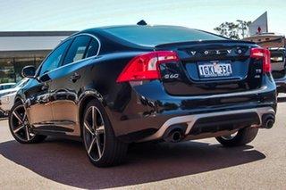 2013 Volvo S60 F Series MY14 T5 PwrShift R-Design Black 6 Speed Sports Automatic Dual Clutch Sedan.