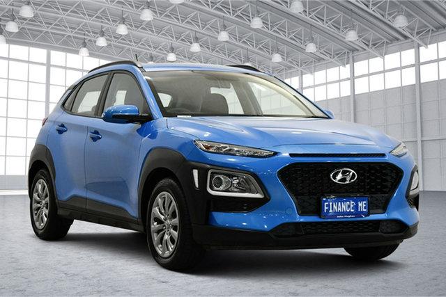 Used Hyundai Kona OS.2 MY19 Go 2WD Victoria Park, 2019 Hyundai Kona OS.2 MY19 Go 2WD Blue 6 Speed Sports Automatic Wagon