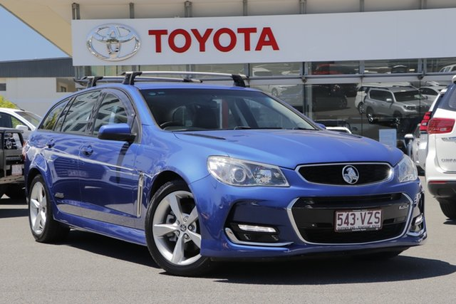 Pre-Owned Holden Commodore VF II MY16 SS Sportwagon Upper Mount Gravatt, 2015 Holden Commodore VF II MY16 SS Sportwagon Blue 6 Speed Sports Automatic Wagon