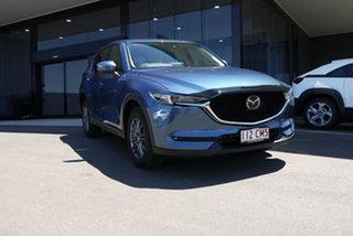 2021 Mazda CX-5 KF4WLA Maxx SKYACTIV-Drive i-ACTIV AWD Sport Blue 6 Speed Sports Automatic Wagon.