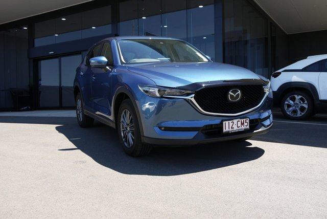 Demo Mazda CX-5 KF4WLA Maxx SKYACTIV-Drive i-ACTIV AWD Sport Bundaberg, 2021 Mazda CX-5 KF4WLA Maxx SKYACTIV-Drive i-ACTIV AWD Sport Blue 6 Speed Sports Automatic Wagon