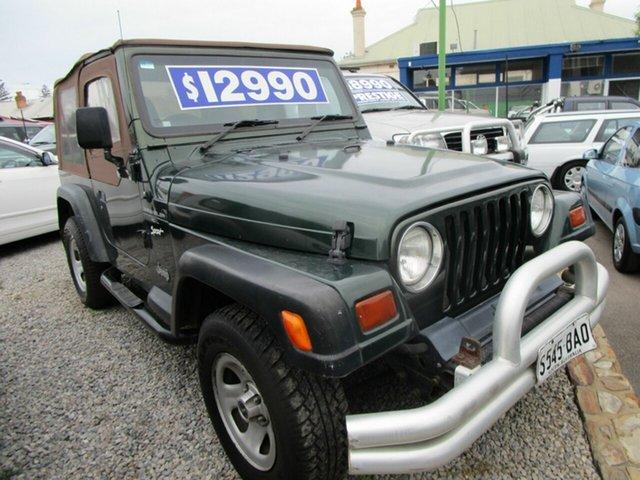 Used Jeep Wrangler TJ Sport (4x4) Glenelg, 1997 Jeep Wrangler TJ Sport (4x4) Green 3 Speed Automatic 4x4 Softtop