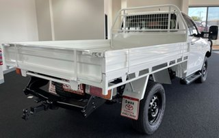 2016 Toyota Hilux GUN126R SR White 6 Speed Sports Automatic Cab Chassis.