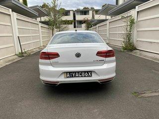 2017 Volkswagen Passat 3C (B8) MY18 206TSI DSG 4MOTION R-Line White 6 Speed