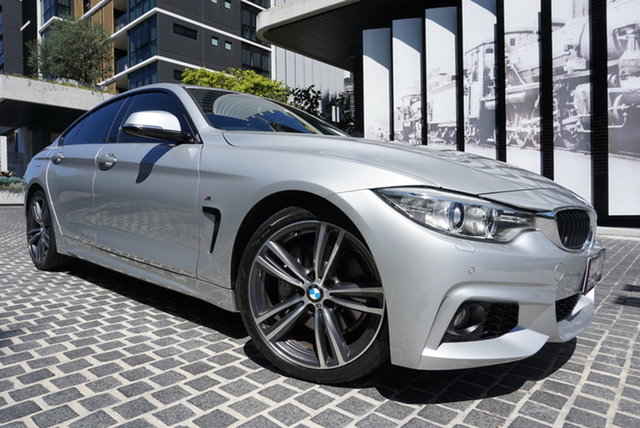 Used BMW 4 Series F36 435i East Brisbane, 2015 BMW 4 Series F36 435i Glacier Silver 8 Speed Sports Automatic Hatchback