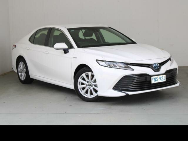 Used Toyota Camry AXVH71R MY19 Ascent (Hybrid) Belconnen, 2018 Toyota Camry AXVH71R MY19 Ascent (Hybrid) Glacier White Continuous Variable Sedan