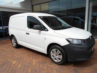 2021 Volkswagen Caddy SKN MY21 TDI280 Cargo SWB Candy White 6 Speed Manual Van.