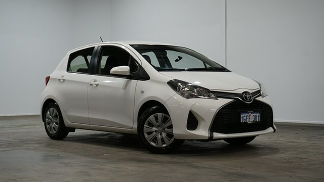 Used Toyota Yaris NCP130R Ascent Welshpool, 2017 Toyota Yaris NCP130R Ascent White 4 Speed Automatic Hatchback