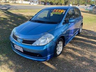 2006 Nissan Tiida C11 ST Blue 4 Speed Automatic Hatchback.