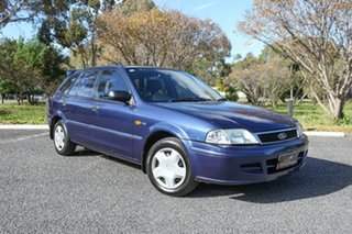 2002 Ford Laser KQ LXI Blue 4 Speed Automatic Hatchback.