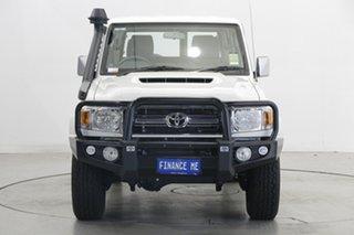 2021 Toyota Landcruiser VDJ76R GXL White 5 Speed Manual Wagon.