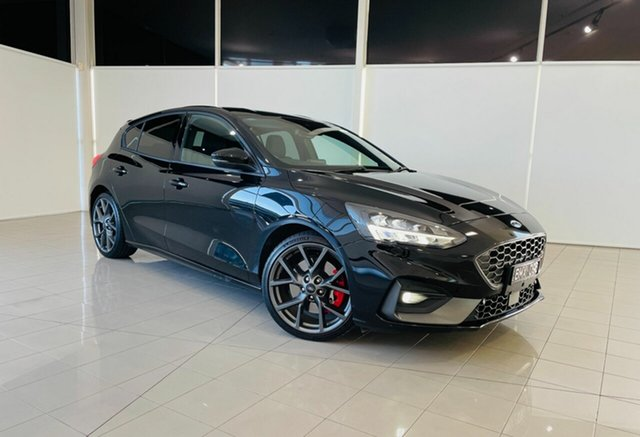 Used Ford Focus SA 2021MY ST Deer Park, 2020 Ford Focus SA 2021MY ST Agate Black 7 Speed Automatic Hatchback
