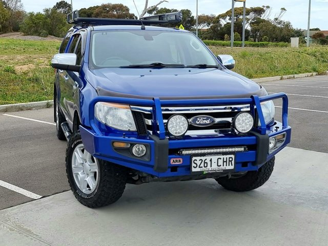 Used Ford Ranger PX XLT Double Cab Victor Harbor, 2014 Ford Ranger PX XLT Double Cab Blue 6 Speed Sports Automatic Utility