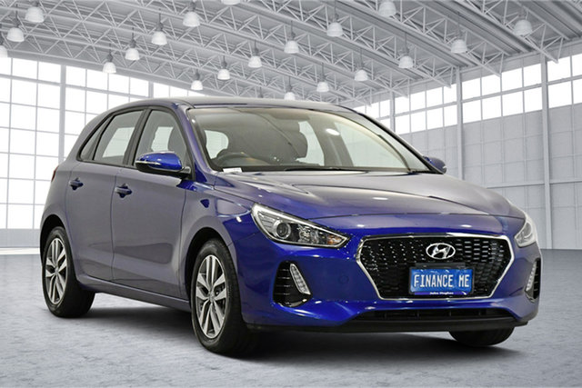 Used Hyundai i30 PD2 MY20 Active Victoria Park, 2019 Hyundai i30 PD2 MY20 Active Blue 6 Speed Sports Automatic Hatchback