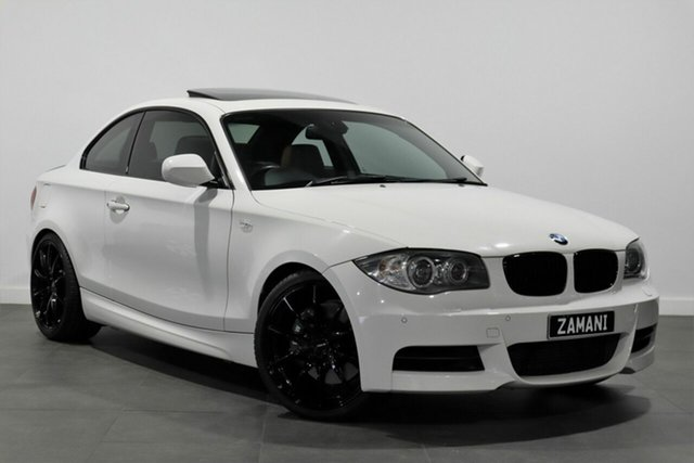 Used BMW 1 Series E82 135i Sport Bayswater, 2009 BMW 1 Series E82 135i Sport White 6 Speed Manual Coupe