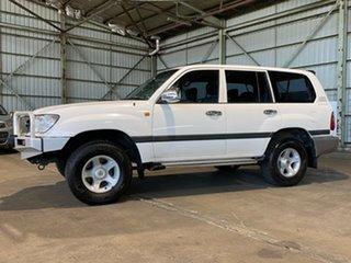 2001 Toyota Landcruiser FZJ105R GXL White 4 Speed Automatic Wagon.