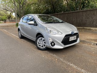 2016 Toyota Prius c NHP10R E-CVT Silver 1 Speed Constant Variable Hatchback Hybrid.