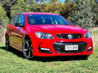 2016 Holden Commodore VF II MY16 SV6 Sportwagon Black Red 6 Speed Sports Automatic Wagon.