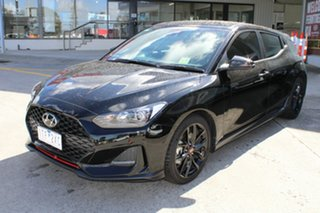 2019 Hyundai Veloster JS MY20 Turbo Coupe D-CT Black/Grey 7 Speed Sports Automatic Dual Clutch.