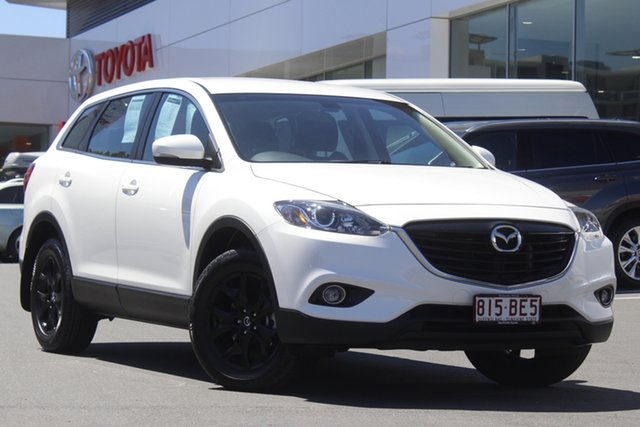 Pre-Owned Mazda CX-9 TB10A5 Classic Activematic Woolloongabba, 2014 Mazda CX-9 TB10A5 Classic Activematic Snowflake White 6 Speed Sports Automatic Wagon