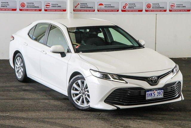 Pre-Owned Toyota Camry ASV70R Ascent Myaree, 2018 Toyota Camry ASV70R Ascent Glacier White 6 Speed Automatic Sedan