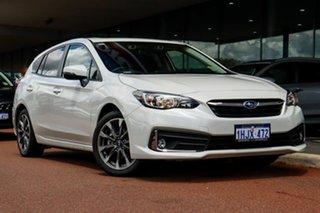 2021 Subaru Impreza G5 2.0I Premium White Constant Variable Hatchback.