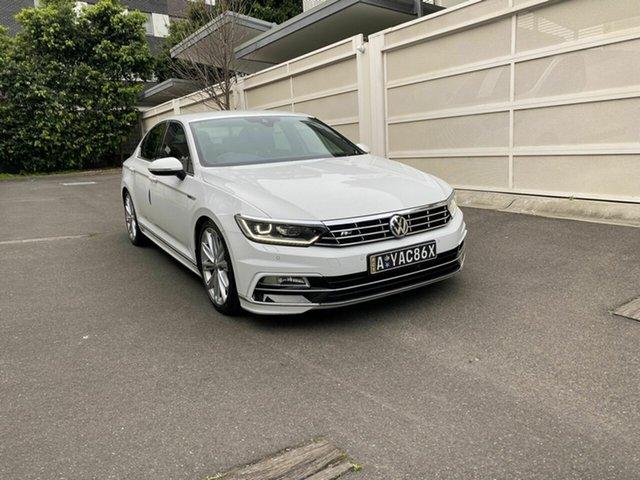 Used Volkswagen Passat 3C (B8) MY18 206TSI DSG 4MOTION R-Line Zetland, 2017 Volkswagen Passat 3C (B8) MY18 206TSI DSG 4MOTION R-Line White 6 Speed