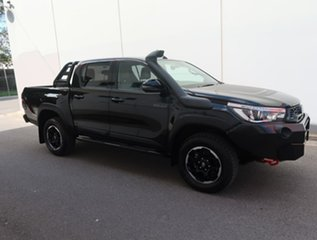 2019 Toyota Hilux GUN126R Rugged X Double Cab Black 6 Speed Sports Automatic Utility