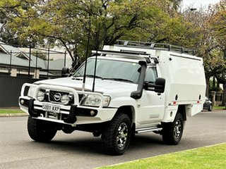 2012 Nissan Patrol GU 6 Series II DX White 5 Speed Manual Cab Chassis.