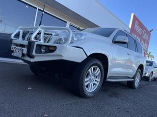 2011 Toyota Landcruiser Prado KDJ150R Kakadu White 5 Speed Sports Automatic Wagon.