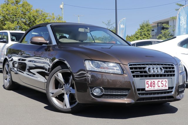 Used Audi A5 8T MY10 S Tronic Quattro Mount Gravatt, 2010 Audi A5 8T MY10 S Tronic Quattro Brown 7 Speed Sports Automatic Dual Clutch Cabriolet