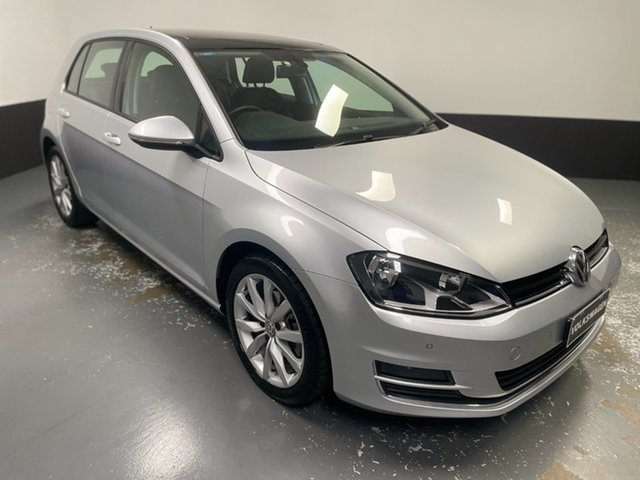 Used Volkswagen Golf VII 103TSI DSG Highline Hamilton, 2013 Volkswagen Golf VII 103TSI DSG Highline Reflex Silver 7 Speed Sports Automatic Dual Clutch