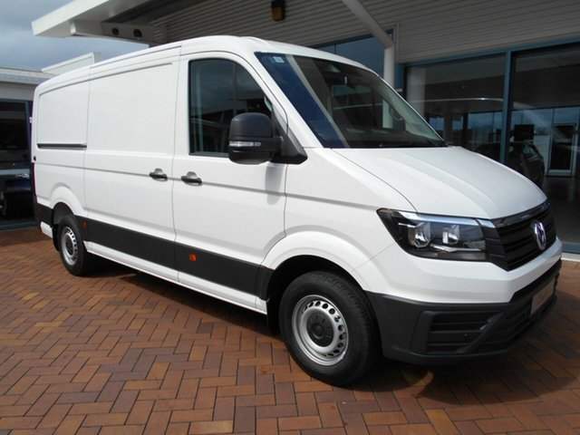 New Volkswagen Crafter SY1 MY21 35 MWB FWD TDI340 Toowoomba, 2021 Volkswagen Crafter SY1 MY21 35 MWB FWD TDI340 Candy White 8 Speed Automatic Van