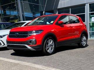 2021 Volkswagen T-Cross C1 MY21 85TSI DSG FWD Style Red 7 Speed Sports Automatic Dual Clutch Wagon.