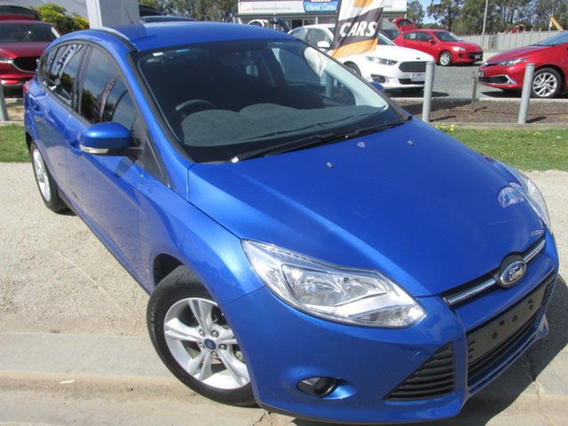 Used Ford Focus LW MK2 Trend Echuca, 2013 Ford Focus LW MK2 Trend Blue 6 Speed Automatic Hatchback