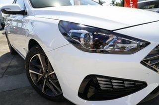 2021 Hyundai i30 PD.V4 MY22 Active Polar White 6 Speed Automatic Hatchback.
