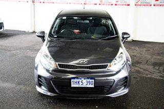 2015 Kia Rio UB MY15 S Grey 6 Speed Manual Hatchback.