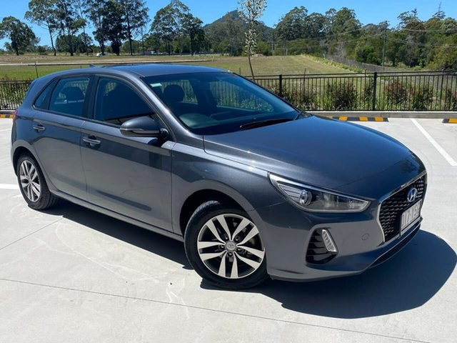 Used Hyundai i30 PD2 MY19 Active Cooroy, 2018 Hyundai i30 PD2 MY19 Active Grey 6 Speed Sports Automatic Hatchback