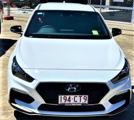 2021 Hyundai i30 PD.V4 MY22 N Line D-CT Polar White 7 Speed Sports Automatic Dual Clutch Hatchback.