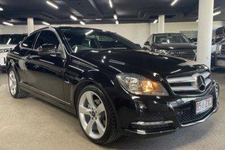 2011 Mercedes-Benz C-Class C204 C250 BlueEFFICIENCY 7G-Tronic + Black 7 Speed Sports Automatic Coupe.