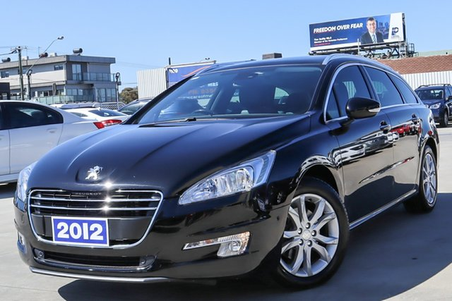 Used Peugeot 508 Allure Touring Coburg North, 2012 Peugeot 508 Allure Touring Black 6 Speed Sports Automatic Wagon