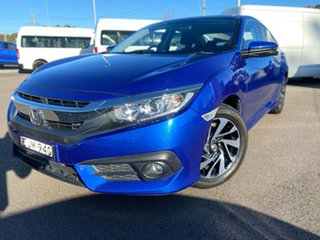 2017 Honda Civic 10th Gen MY16 VTi-S Blue 1 Speed Constant Variable Sedan.