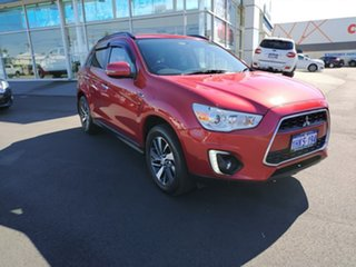 2014 Mitsubishi ASX XB MY15 LS 2WD Red 6 Speed Constant Variable Wagon.