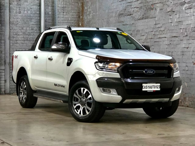 Used Ford Ranger PX MkII Wildtrak Double Cab Mile End South, 2016 Ford Ranger PX MkII Wildtrak Double Cab White 6 Speed Sports Automatic Utility