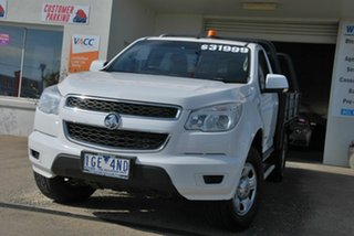 2015 Holden Colorado RG MY16 LS (4x4) White 6 Speed Automatic Cab Chassis.