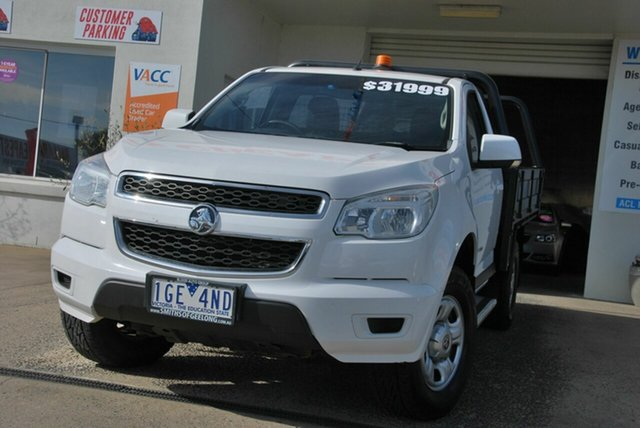 Used Holden Colorado RG MY16 LS (4x4) Wendouree, 2015 Holden Colorado RG MY16 LS (4x4) White 6 Speed Automatic Cab Chassis